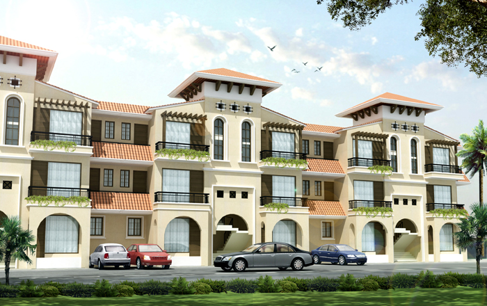 building elevation of amari greens greater mohali