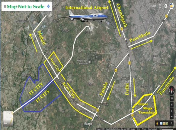 shipra first enclave chandigarh zirakpur location map
