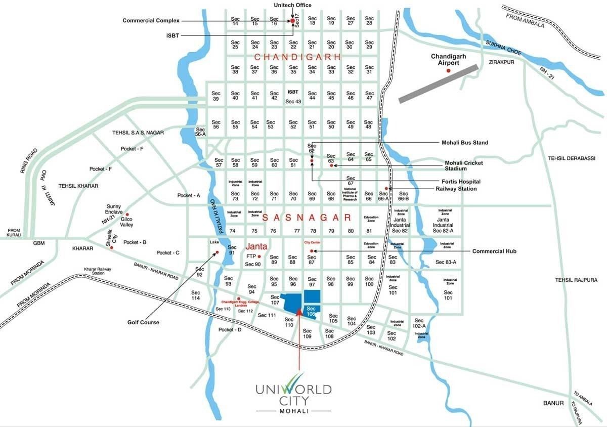 unitech plots in mohali